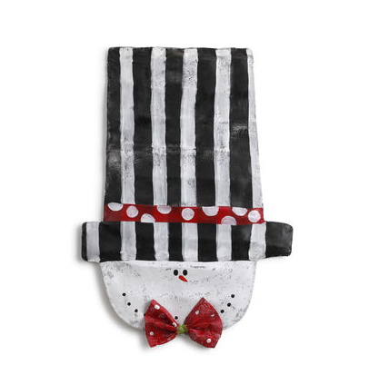 snowman head striped