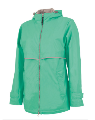 mint rain jacket