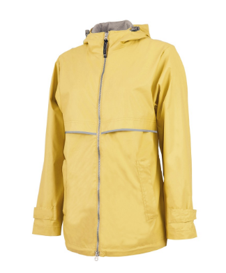 yellow rian jacket