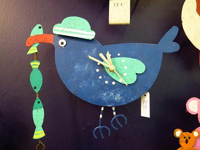 blue bird with hat