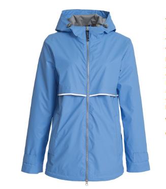 perwiwinkle rain jacket