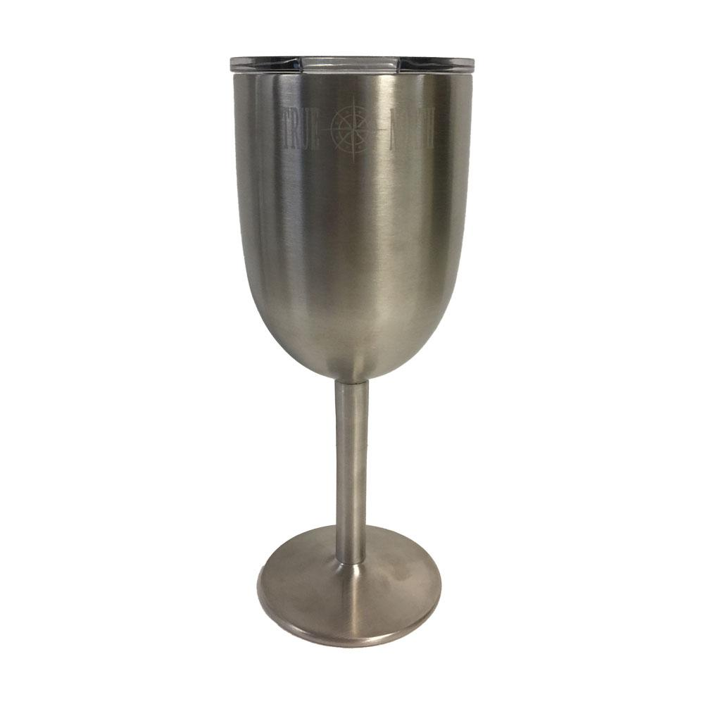 True North Insulated Stainless Wine Glass With Lid