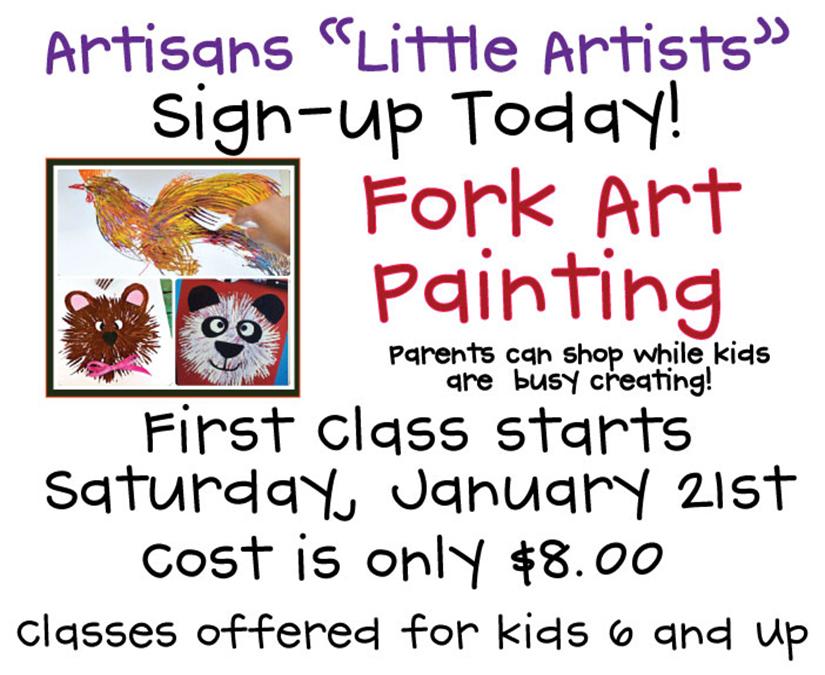 Artisans Little Artists - Fork Art Painting