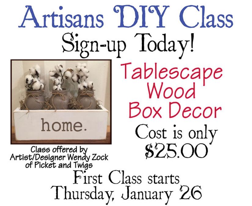 DIY Classes Beginning in January