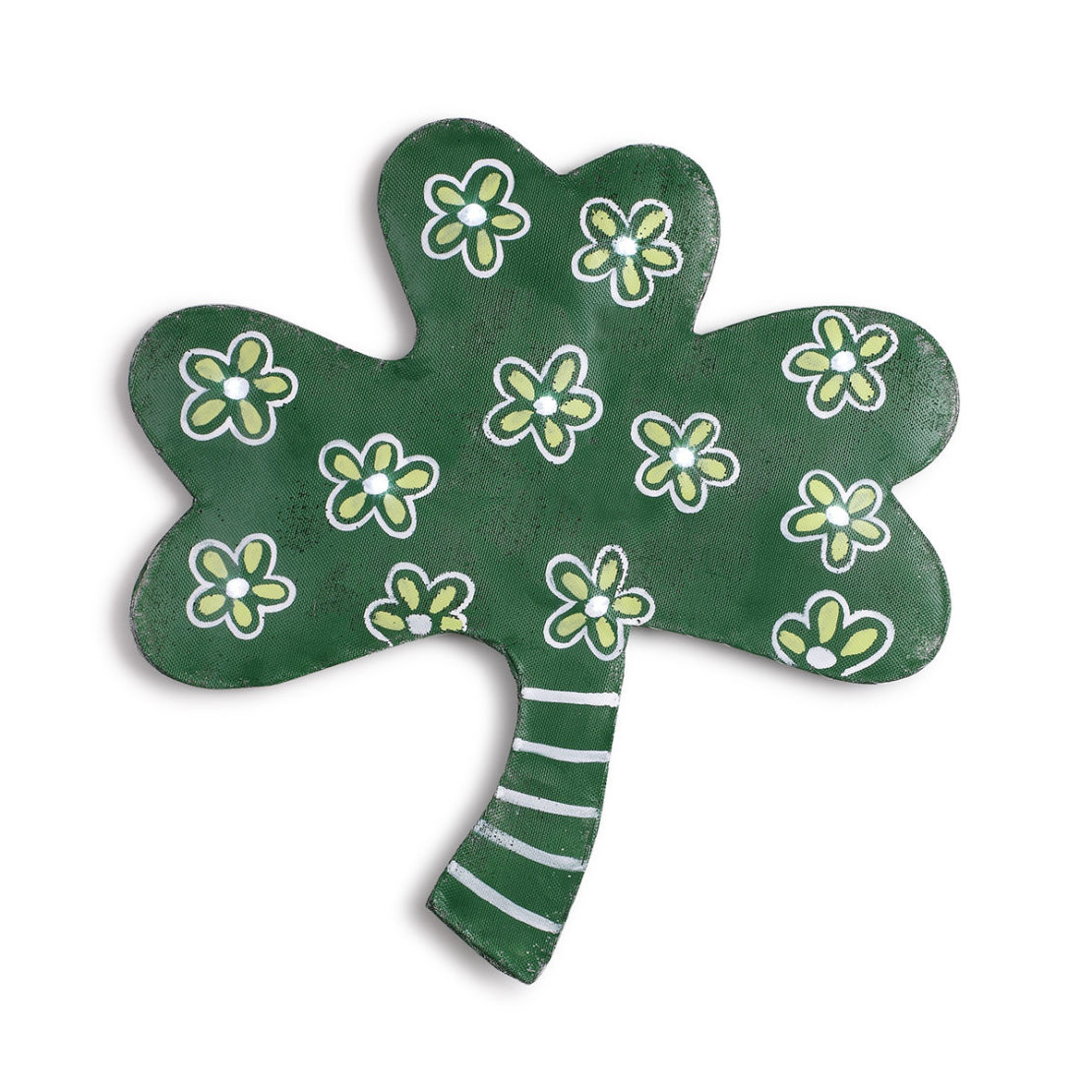Lit Shamrock Screen Door Hanger