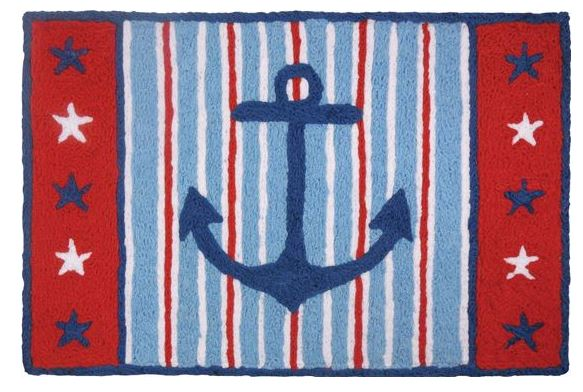 red white blue anchor