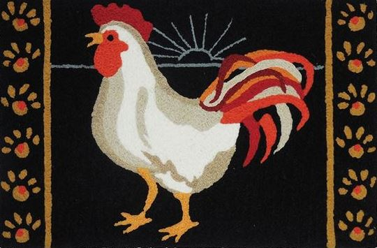 Rooster Rug Artisans Decorative Accessories Fine Gifts Mesmerizing Roosters Decorative Accessories